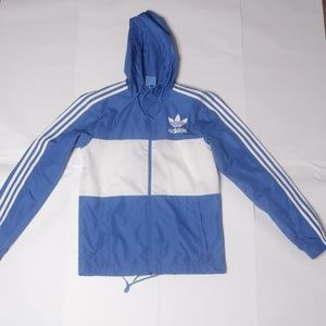 Men's Adidas Original Windbreaker Blue White